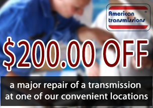 $200 Off Transmission Maintenance Service, Includes up to Five Quarts of Fluid, Band & Linkage Adjustment